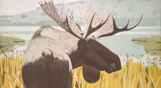 Alex Katz, Moose, 1983
