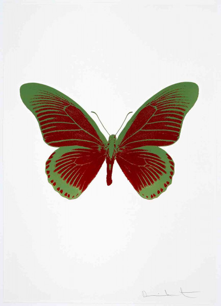 Damien Hirst, The Souls IV - Chilli Red/Leaf Green, 2010