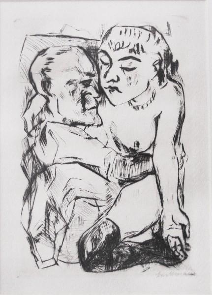 Max Beckmann, Illustration for Chapter Two, from: The Duchess | Die Fürstin, 1917