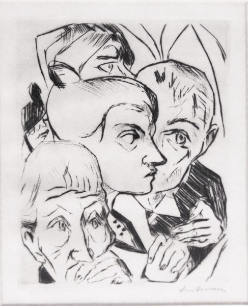 Max Beckmann, Illustration for Chapter Four, from: The Duchess | Die Fürstin, 1917