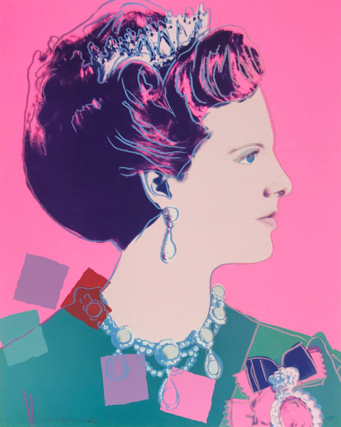 "Andy Warhol, Queen Margrethe II of Denmark (FS II.345A), from the Portfolio ""Reigning Queens (Royal Edition)"", 1985"