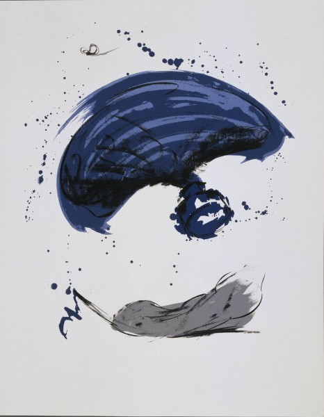 Claes Oldenburg, Thrown Ink Bottle with Fly and Dropped Quill, 1991