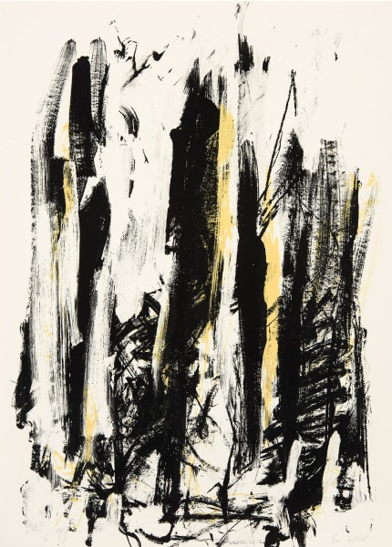 Joan Mitchell, Trees (Jaune/noir), 1992