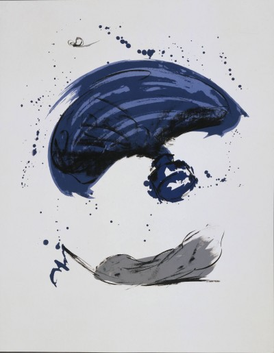 Thrown Ink Bottle with Fly and Dropped Quill by Claes Oldenburg