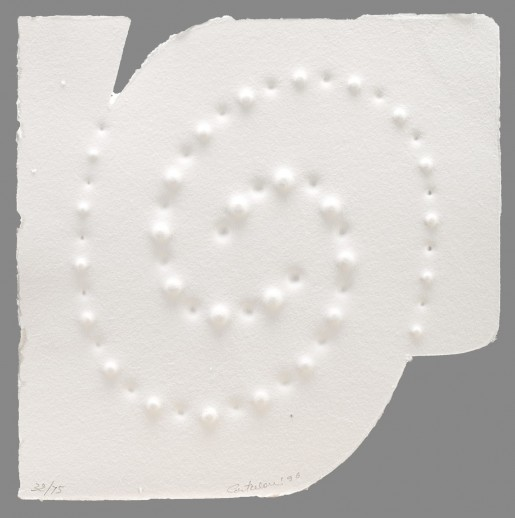 Enrico Castellani, Composition II, from: Trous, 1996