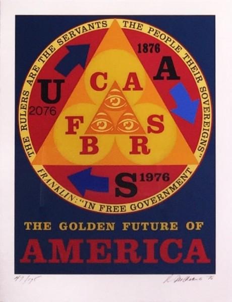 Robert Indiana, Golden Future of America, 1976