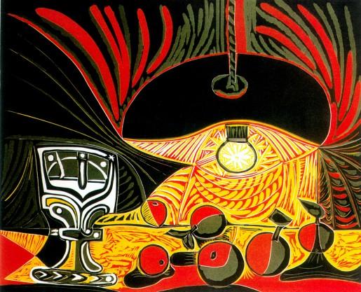 Pablo Picasso, Nature Mort sous la Lampe, 1962