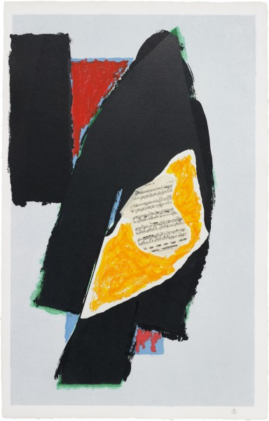 Robert Motherwell, Black for Mozart, 1991
