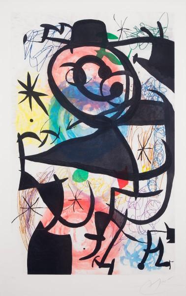 Joan Miró, Le Pitre Rose, 1974