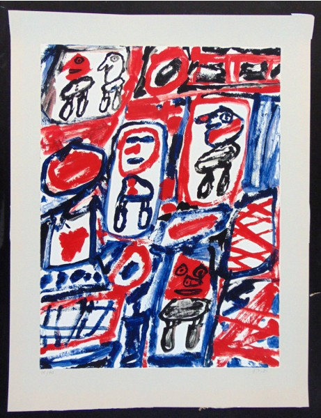 Jean Dubuffet, Line with Five Characters, 1981
