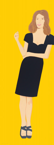 Alex Katz, Black Dress 2 (Cecily), 2015