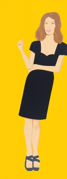 Alex Katz, Black Dress - Cecily, 2015