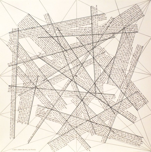 Sol LeWitt, The Location of Lines. Lines from Points to Points., 1975