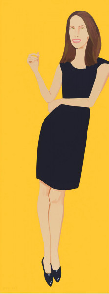Alex Katz, Black Dress 9 (Christy), 2015