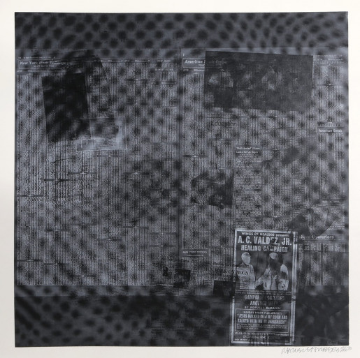 Robert Rauschenberg, Features from Currents, #51, 1970