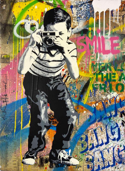 Mr. Brainwash, Smile, 2019