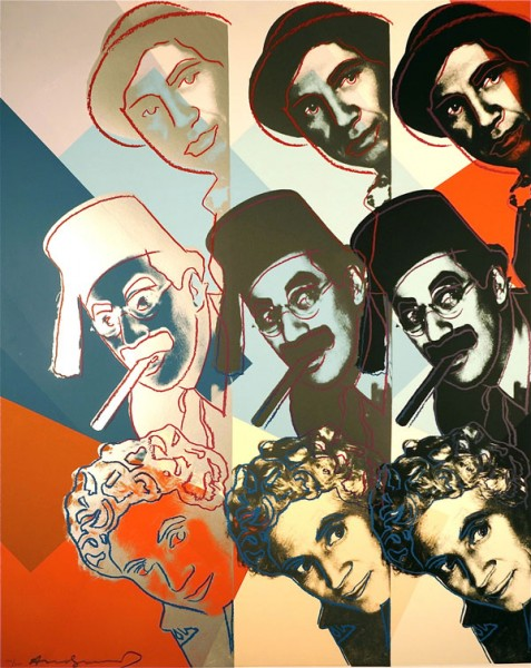 Andy Warhol, Marx Brothers, from 10 Portraits Of Jews Of The 20th Century, 1980