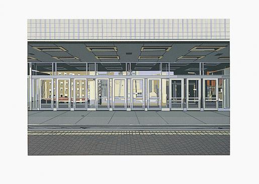 "Richard Estes, ""Ten Doors"" from the Portfolio ""Urban Landscape I"", 1972"