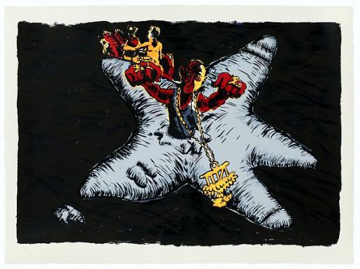 Jörg Immendorff, Zeig was du Hast, 1998