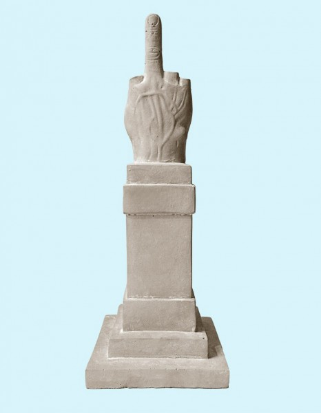 Maurizio Cattelan, Love Cement Sculpture, 2015