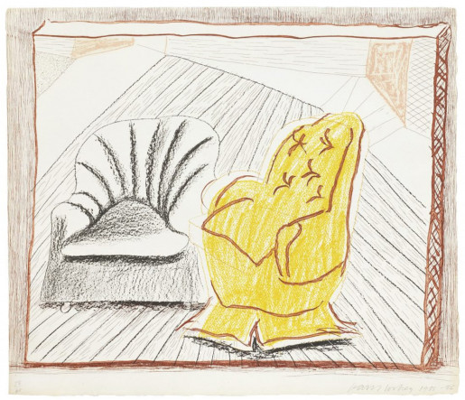 David Hockney, A Picture of Two Chairs (from the Moving Focus Series), 1985-86