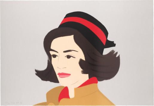 Alex Katz, Ada in Hat, 1990