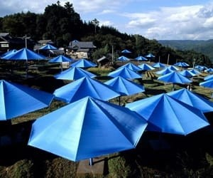 The Umbrellas, Japan by Christo & Jeanne-Claude