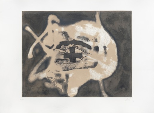 Antoni Tàpies, Relief sable, 1982