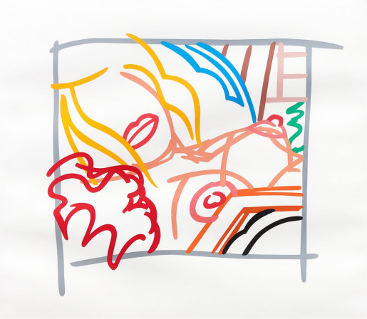 Tom Wesselmann, Bedroom Blonde Doodle with Photo, 1988