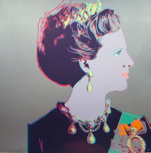 Andy Warhol, Reigning Queens: Queen Margrethe II of Denmark (A389.076), 1985