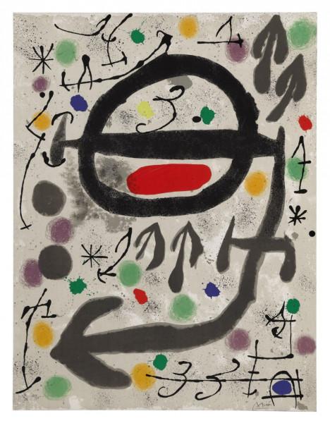 Joan Miró, Les Perséides: Plate III, 1970