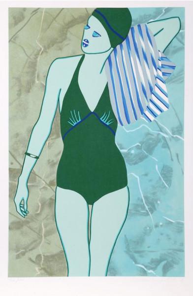 Kiki Kogelnik, Bathing in Green, 1978
