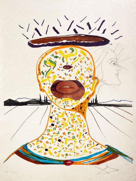 Salvador Dalí, Cyclopean Make-Up, 1975-1976