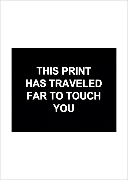 Laure Prouvost, This print has traveled far to touch you, 2016