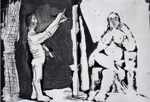 Pablo Picasso, The Painter and his Model, 1964