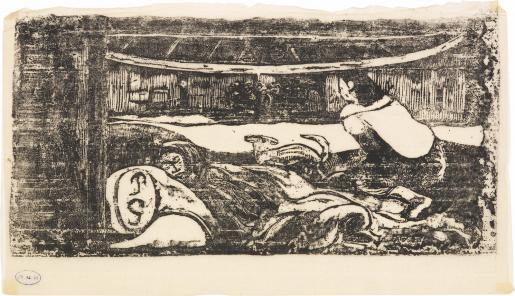 Paul Gauguin, Intérieur de Case, 1898-1899
