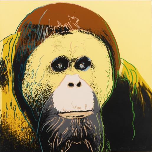 "Andy Warhol, Orangutan (FS II.299) from the Portfolio ""Endangered Species"", 1983"