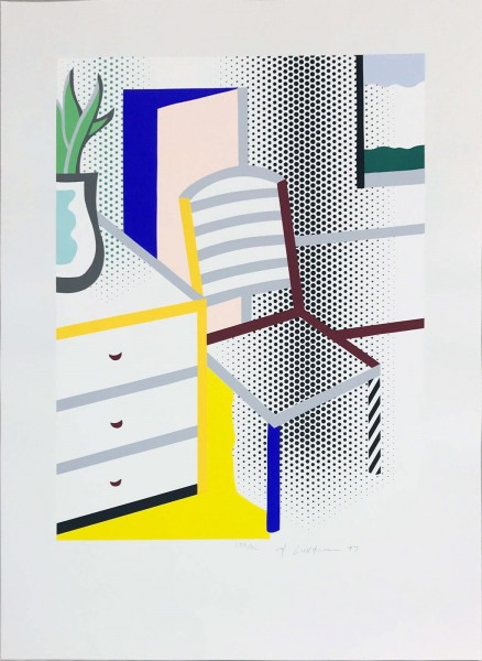 Roy Lichtenstein, Interior With Chair, from the Portfolio of Leo Castelli's 90th Birthday, 1997