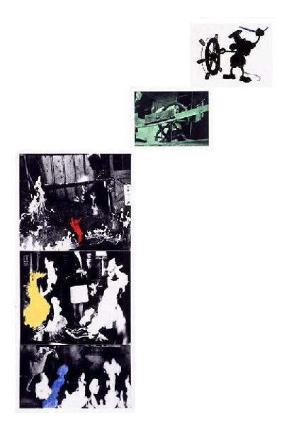 John Baldessari, Helmsman (With Various Fires), 1989-90