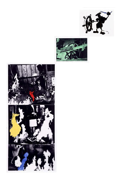 John Baldessari, Helmsman (With Various Fires), 1989-90