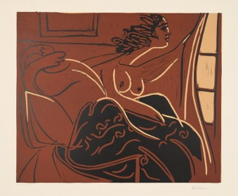 Femme regardant par la fenêtre by Pablo Picasso