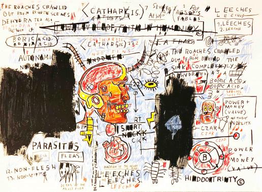 Jean-Michel Basquiat, Leeches, 1982-1983/2017