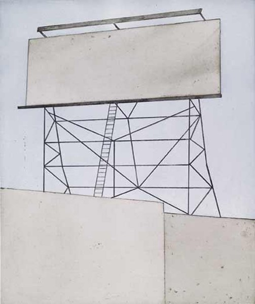 Ed Ruscha, Your Space on Building, 2006