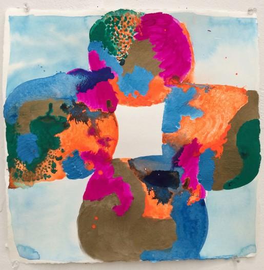 Judy Ledgerwood, Polychrome Quatrafoil #1, 2013