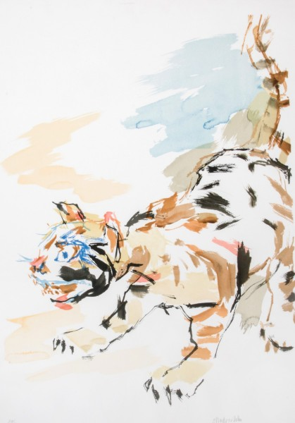Oskar Kokoschka, Tiger Cat, 1975