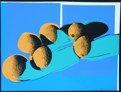 Space Fruits (Cantaloupes I) by Andy Warhol