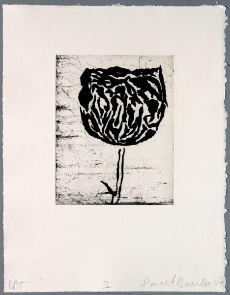 Donald Baechler, Five flowers V, 2007