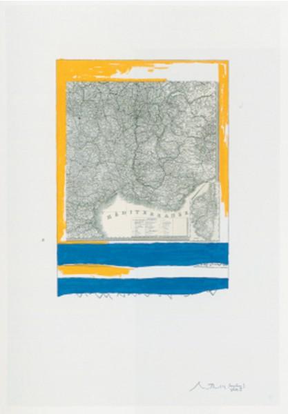 Robert Motherwell, Mediterranean, State I White, 1975