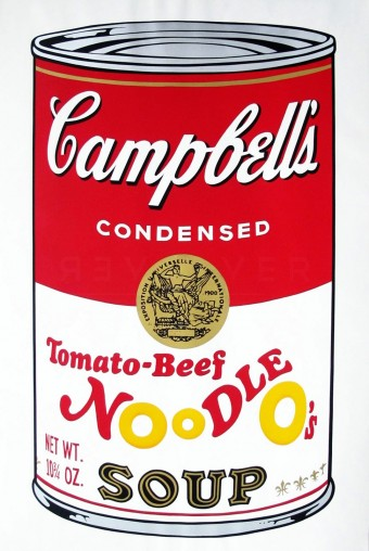 "Tomato-Beef Noodle Os (FS II.61), from the Portfolio ""Campbells Soup II"" by Andy Warhol"