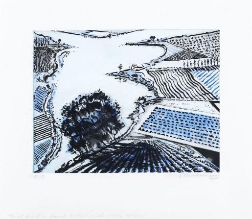 Wayne Thiebaud, River and Farms, 2002/2007